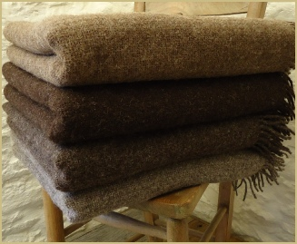 Natural British Wool Leno Throws