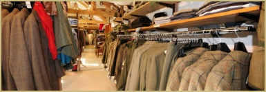 Men's tweed clothing at Cotswold Woollen Weavers
