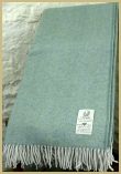 Cotswold Woollen Weavers' Lambswool Wide Herringbone Throw Aqua