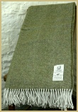 Cotswold Woollen Weavers' Lambswool Wide Herringbone Throw Terrain