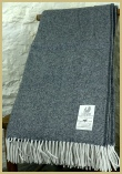 Cotswold Woollen Weavers' Lambswool Wide Herringbone Throw Slate