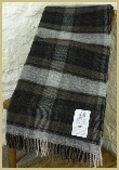 Lambswool Merino Mineral Plaid - Graphite
