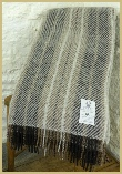 Natural British Wool Stripe Throw - Light