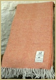 Cotswold Woollen Weavers' Lambswool Wide Herringbone Throw Mandarin
