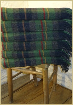 Cotswold Woollen Weavers' Oxfordshire Check Merino Lambswool Throw