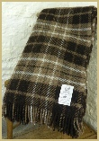 Natural British Wool Plaid Throw - Moorit
