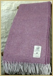 Cotswold Woollen Weavers' Lambswool Wide Herringbone Throw Bramble