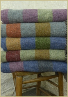 Cotswold Woollen Weavers' Country Tweed Chevron Throws