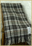 Cotswold Woollen Weavers Welsh Country Rustic Plaid Throw Grey/Charcoal