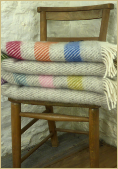 Cotswold Woollen Weavers' Contemporary Point Blanket Throw