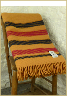 Cotswold Woollen Weavers' Lady Borrodale Shetland Plaid throw in aged colours