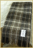 Natural British Wool Plaid Throw - Grey
