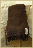 Natural British Wool Leno Throw - Peat