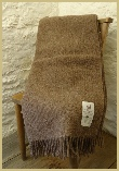 Natural British Wool Leno Throw - Shetland Moorit