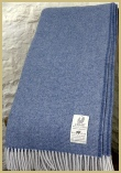 Cotswold Woollen Weavers' Lambswool Wide Herringbone Throw Azure